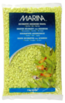 """Marina Lime-Green Decorative Aquarium Gravel, 2kg (4.4 lb)"