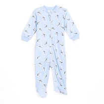 George Baby Boys' Ribbed Romper with Zip Closure Blue 18-24 months