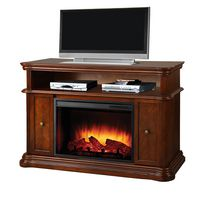 Pleasant Hearth Melton Media Console, Rich Mahogany