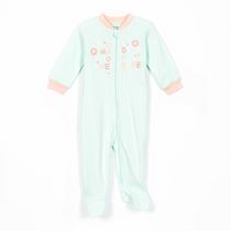 George Baby Girls' Ribbed Romper with Zip Closure Green 12-18 months