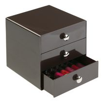 Mainstays 3-Drawer Storage Organizer Brown