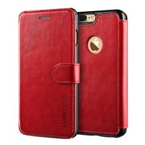 Étui Vrs Design de la série Layered Dandy pour iPhone 7 Wine Red
