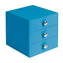Mainstays 3-Drawer Storage Organizer Blue