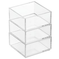 "Mainstays 4"" x4"" x5.6"" Clear Cosmetic Organizer Stacker Set"