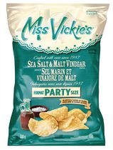Miss Vickie's Sea Salt & Malt Vinegar Kettle Cooked Potato Chips