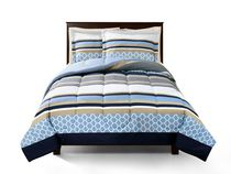 Mainstays Reversible Microfiber Comforter Set Twin
