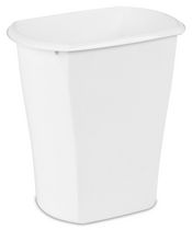 Sterilite 11.4 L Rectangular Wastebasket (White)