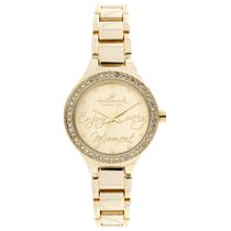 "Hallmark Ladies Gold ""Enjoy Every Moment"" Analog Watch"