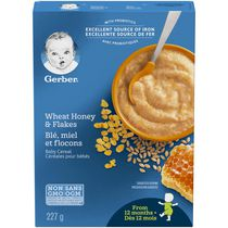 Nestlé Gerber Wheat, Honey and Flakes Baby Cereal