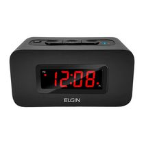 Elgin Digital Alarm Clock with 0.9-inch LED Digital Display and Bluetooth Speaker