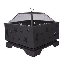Pleasant Hearth OFW314S Stargazer Deep Bowl Fire Pit