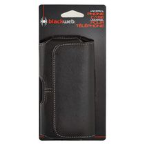 blackweb XL Black Leather Case