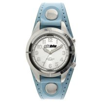 Globlu Ladies Blue Patent Strap Analog Watch with Night Light