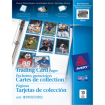 Pochettes protectrices pour cartes de collection 76016, sans acide, paquet de 10 - Avery