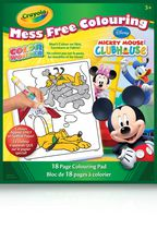 Bloc de pages à colorier Mickey Mouse Clubhouse Color Wonder Mess Free Colouring de Crayola