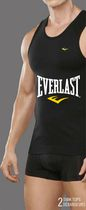 Everlast Men's Tank Tops, Pack of 2 Medium