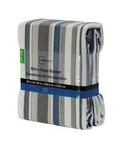 Mainstays Microfleece Blanket Stripe