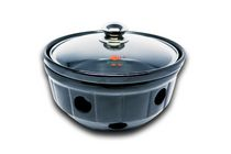 EMF Fondue Earth Pot Cooker/Warmer with Glass Lid in Gift Box - 12-inch