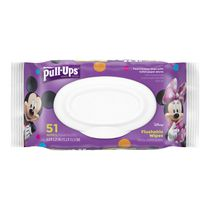 Pull-Ups® Flushable Moist Wipes, Pouch, 51's
