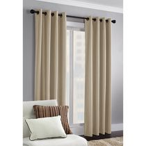 Faux Silk Thermal Window Panel Soft Taupe