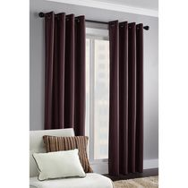 Faux Silk Thermal Window Panel Berry