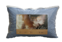 Royal Elite Coloured Feather Pillow Mink European