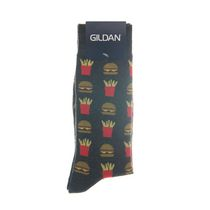 Gildan Men's Crew Socks Charcoal