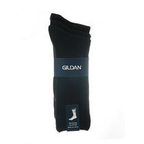 Gildan Men's Crew Socks, Pack of 3 Black