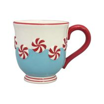 Holiday Time 16 oz Candy Cane Mug