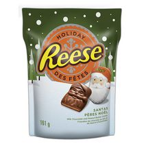 Reese Santas Milk Chocolate and Peanut Butter Candies