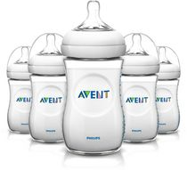 Philips Avent SCF693/57 BPA Free Natural 9 Ounce Polypropylene Bottles, 5-Pack