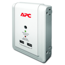 APC Essential SurgeArrest 4 Outlet Wall Mount with USB, 120V