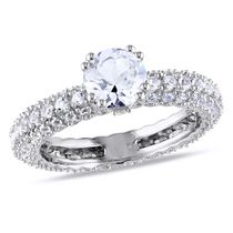 Miabella 2.75 Carat T.G.W. Created White Sapphire Sterling Silver Engagement Ring 7