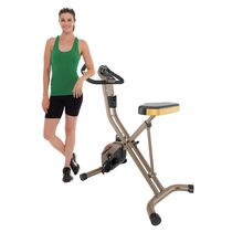 Exerpeutic Gold 500 XLS 400 lbs Weight Capacity Foldable Magnetic Upright Bike