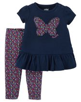 Child of Mine made by Carter's Newborn Girls' 2-piece Butterfly Set 12M