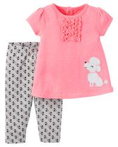 Child of Mine made by Carter's Newborn Girls' 2-piece Poodle Set 18M