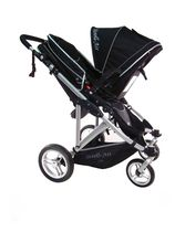 StrollAir My Duo Double / Twin Stroller Black