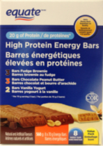 Equate High Protein Energy Bars, Value Pack