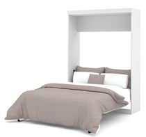 Lit escamotable 2 places de Nebula par Bestar - Blanc
