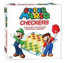 Super Mario Checkers Board Game - Bilingual