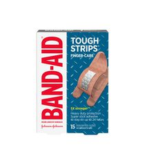 BAND-AID® TOUGH-STRIPS® FINGER-CARE® Adhesive Bandages