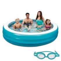 Blue Wave 7.5-ft 3D Inflatable Round Family Pool