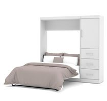 "Nebula by Bestar 84"" Full Wall bed kit in White"