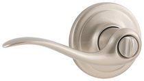 Fix-It Privacy  Bed/Bath Wave Lever Satin Nickel