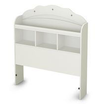 South Shore Tiara Collection Twin Bookcase Headboard (39'') Pure White