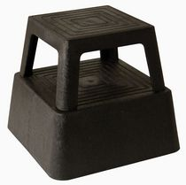 Continental - Black step stool on wheels model 523