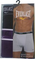 Everlast Men's Sport Boxer Briefs - Pack of 2 Black S
