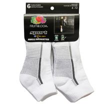 Fruit of the Loom Men's Sport Ankle Socks - 6 Pairs