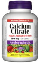 Webber NaturalsMD Citrate de Calcium, Forte Absorption, 300 mg
