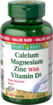 Nature's Bounty Calcium Magnesium Zinc with Vitamin D3 200 Caplets